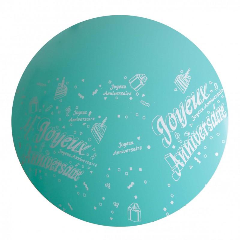 1 Ballon 36 Vert Jade Imprime Tot Joyeux Anniversaire Sens Air